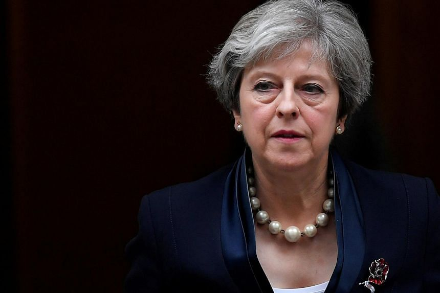 Britain's Prime Minister Theresa May leaves 10 Downing Street in London, on Nov 1, 2017.