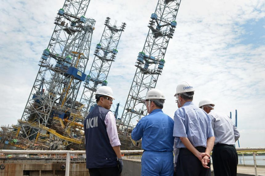 Eighty-nine workers were injured when the oil rig at Jurong Shipyard lurched to one side on Dec 3, 2012, with some jumping into the sea from three storeys up the three-legged structure. There were more than 1,000 workers on the rig, which is used for