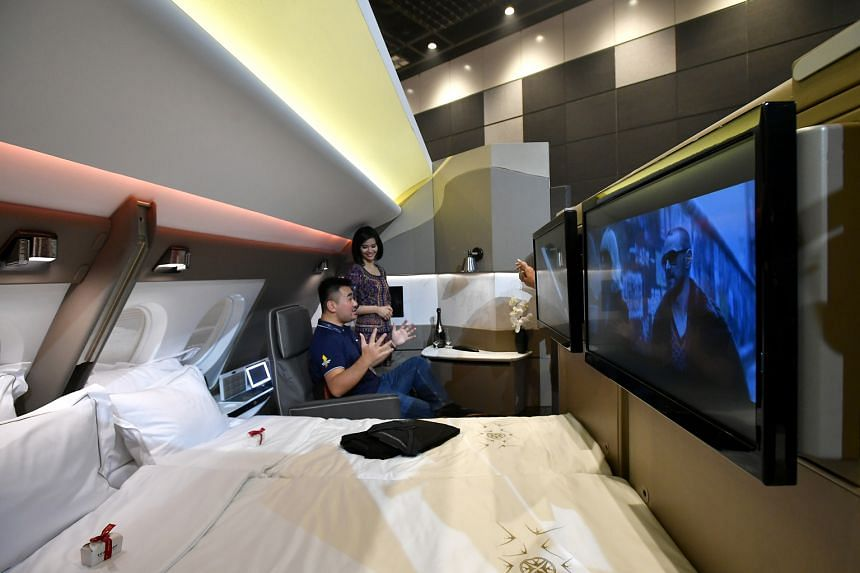 SIA's new suites in the A380 have features like separate sitting and sleeping areas and a wireless tablet that acts like a personal butler.