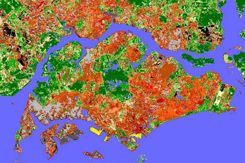 A map depicting the climate zones of Singapore provides a research framework for urban heat island studies under the Cooling Singapore project, one of Create's collaborations on cross-disciplinary research topics important to Singapore and the region