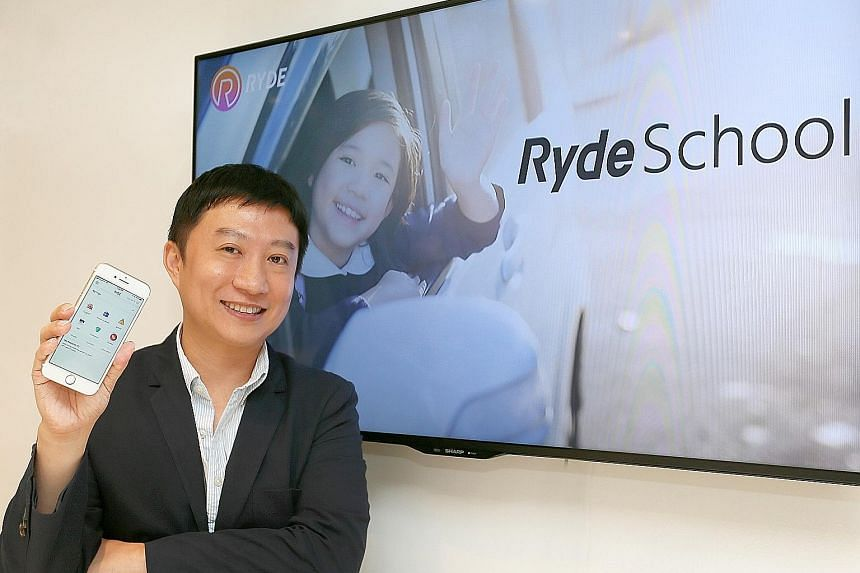 Ryde founder Terence Zou says the point-to-point nature of carpooling means children can leave home later and get more sleep.