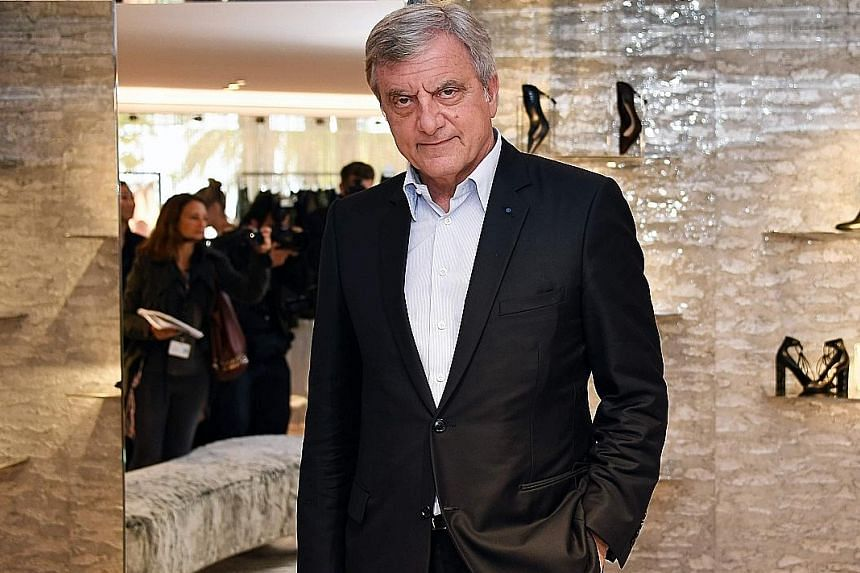 A look from the 2018 cruise collection (above) by Dior, which was helmed by Mr Sidney Toledano (below right) for almost 20 years. He will now oversee smaller brands at LVMH.