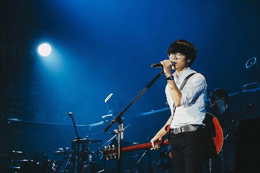 Popular Taiwanese music acts such as singer-songwriter Crowd Lu (left) will make an appearance at the Esplanade festival.