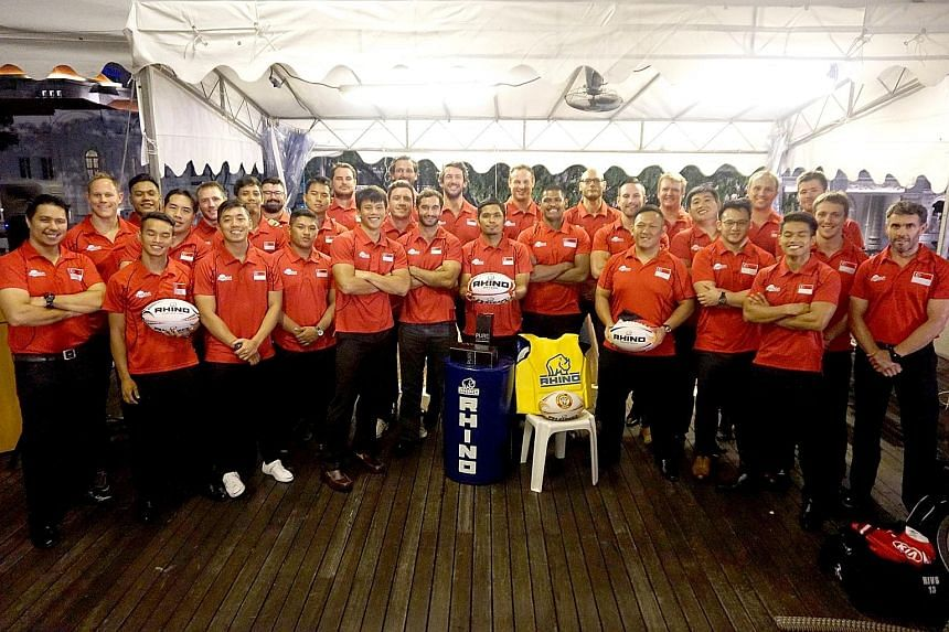 Singapore rugby captain Gaspar Tan and team-mates attended a jersey presentation by the Singapore Rugby Union at the Singapore Cricket Club last night. The squad travel to Chinese Taipei to face India next Wednesday at the Taipei Municipal Stadium in