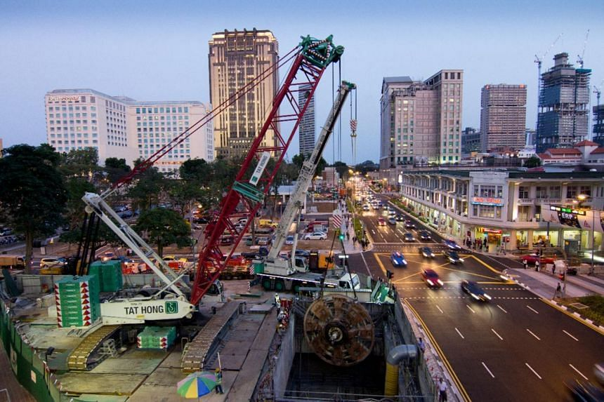 Tower cranes from Tat Hong Holdings, which was established in Singapore in the 1970s as a supplier of cranes and heavy equipment.