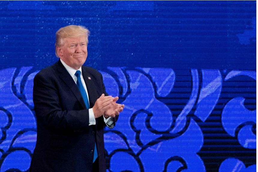 US President Donald Trump at the Asia-Pacific Economic Cooperation (APEC) leaders' summit, in the central Vietnamese city of Danang on Nov 10, 2017.