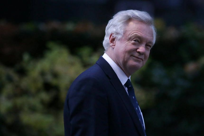 Britain's Secretary of State for Exiting the European Union (Brexit Minister) David Davis is seen in Downing Street in London.