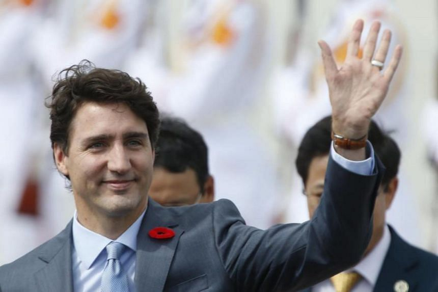 The leaders' meeting had been scheduled for 0145 local time (2.45pm Singapore time), but Canadian Prime Minister Justin Trudeau failed to show up.