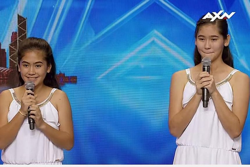 Anne-Sophie Cazaubon, 10, and Ariane, 12 - known collectively as The Sisters -  have made it to the semi-finals of popular reality TV series Asia's Got Talent Season 2.