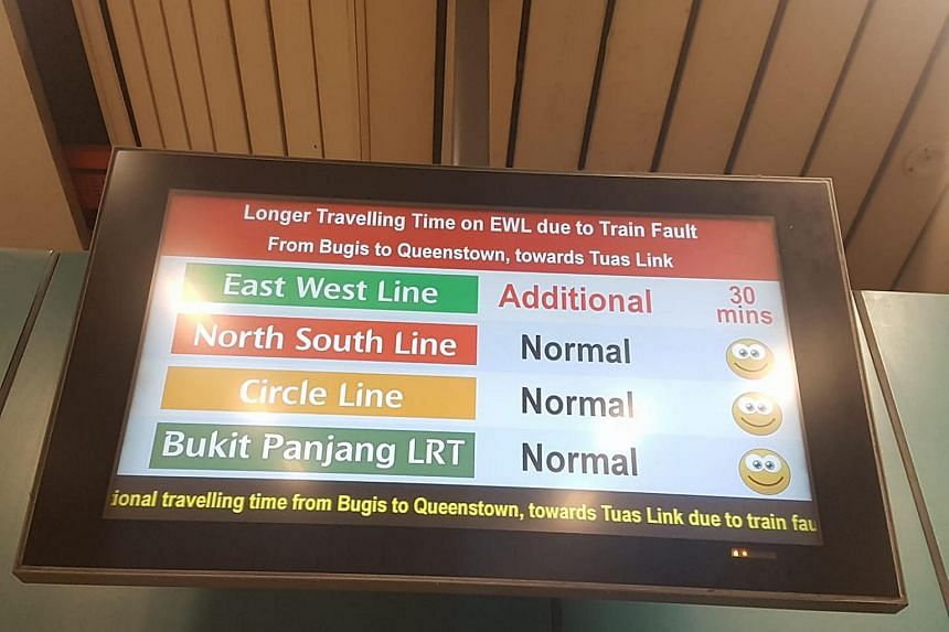 The delays affected commuters travelling from Bugis to Queenstown, towards Tuas Link.