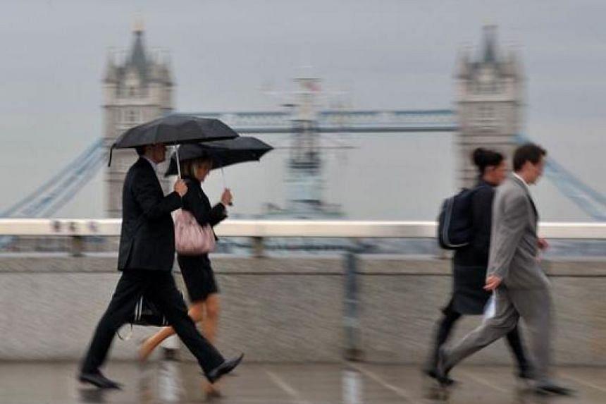 People walking on London Bridge in central London in 2011.