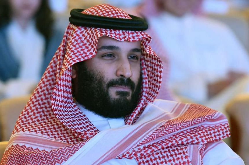 Saudi Crown Prince Mohammed bin Salman attending the Future Investment Initiative conference in Riyadh on Oct 24, 2017.