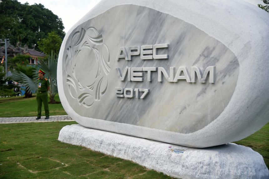The Apec park where the sculpture by Singaporean artist, Tan Wee Lit adorns in Danang, Vietnam, after it was selected as Singapore's contribution to the park.