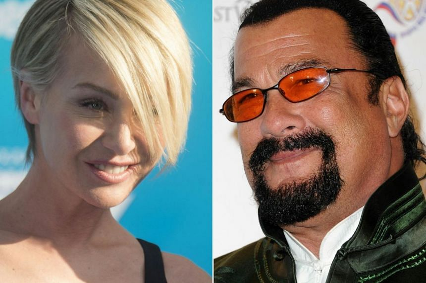 Portia de Rossi (left), the former Ally McBeal actress and wife of chat queen Ellen DeGeneres, accused Steven Seagal for sexual harassment.