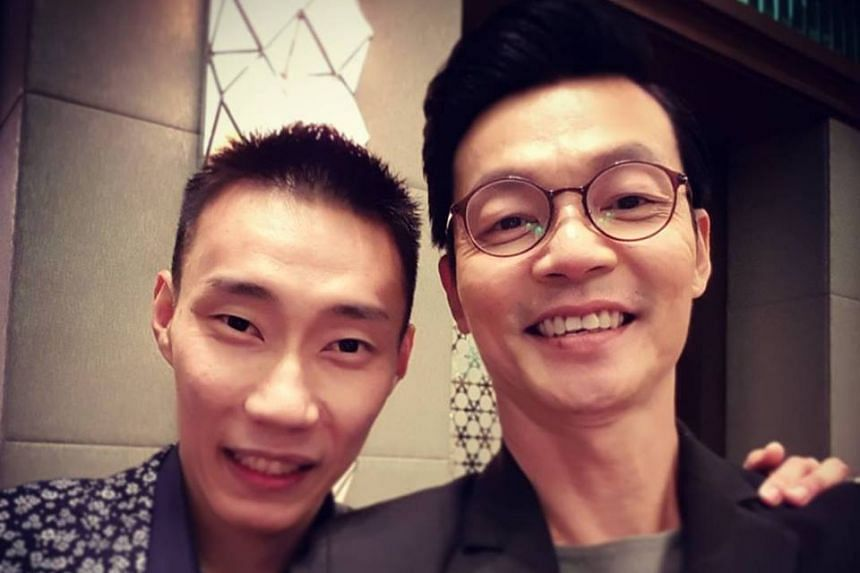 Singapore actor Mark Lee (right) plays Lee Ah Chai, the father of Malaysian badminton star Lee Chong Wei.