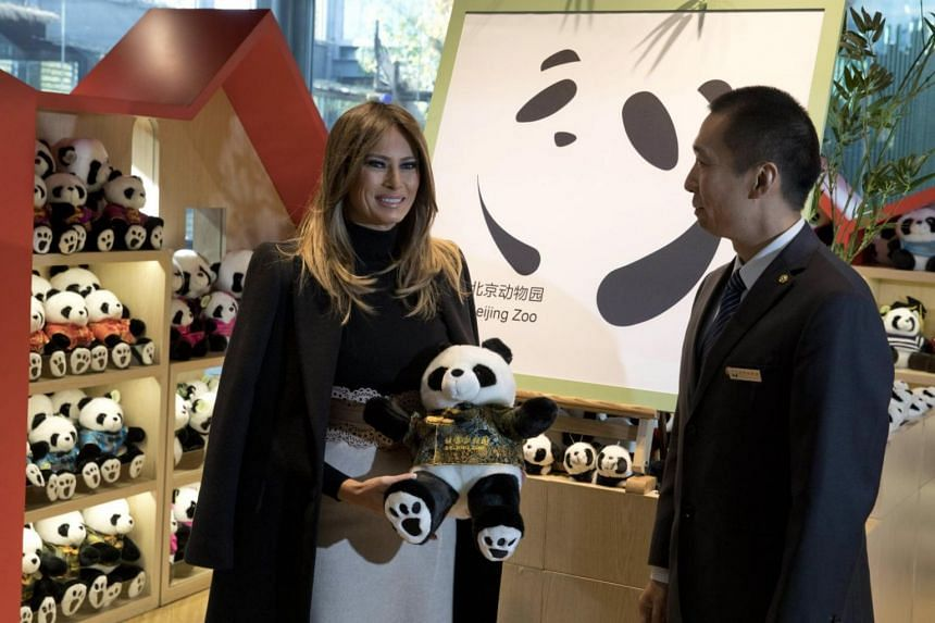 Melania Trump visited the Beijing Zoo and the Great Wall of China. PHOTO: AP POOL