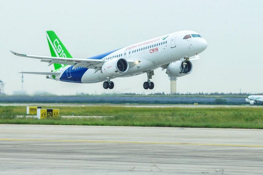 The C919 flew for 2 hours and 23 minutes from Shanghai to the central Chinese city of Xi'an.