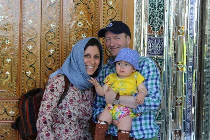 Iranian-British aid worker Nazanin Zaghari-Ratcliffe, with her British accountant husband Richard Ratcliffe and her daughter Gabriella.