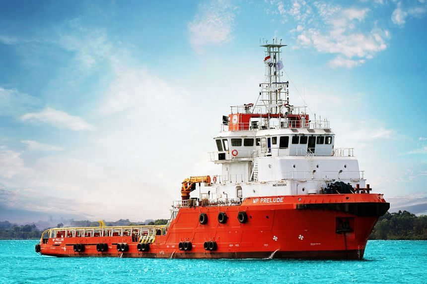 The MP Prelude, a tug supply vessel owned by a subsidiary of Marco Polo Marine. The group slipped into negative equity net of liabilities of $150.8 million after taking total impairment and allowances of $299.3 million.