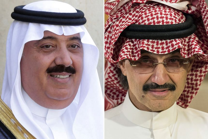 The accounts of 19 Saudis, including Prince Miteb bin Abdullah (left, above) and Prince Alwaleed bin Talal (left, below), are under scrutiny by the UAE central bank.
