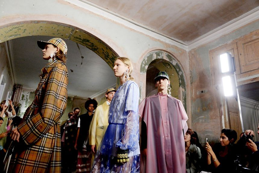 Mr Marco Gobbettitook over as Burberry's CEO this year. The Burberry Spring/Summer 2018 show at the London Fashion Week on Sept 16 this year. Store refurbishments and other upgrades will result in capital expenditure of £150 million (S$268 million