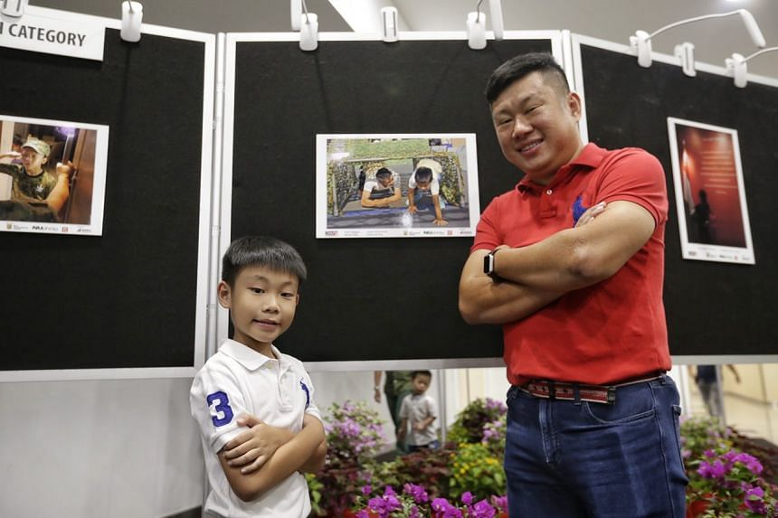 Mr Lawrence Pang and his son Jordan came in second respectively for their photos in the Open and Youth Category.