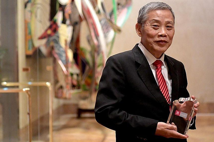 Veteran lawyer Peter Low received the CC Tan Award last night.