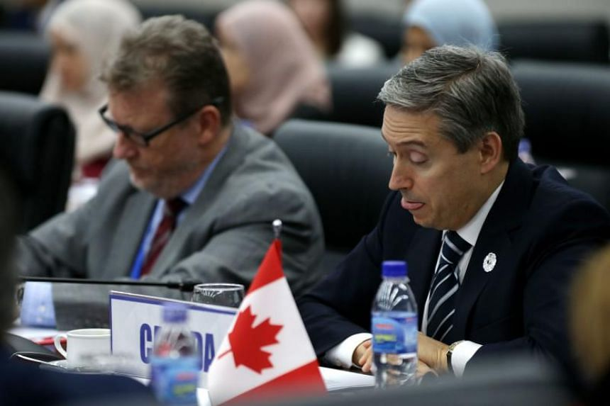 Canada's Trade Minister François-Philippe Champagne (right) attends the Trans-Pacific Partnership (TPP) Ministerial Meeting ahead of the Apec leaders summit in Danang, Vietnam, on Nov 9, 2017.