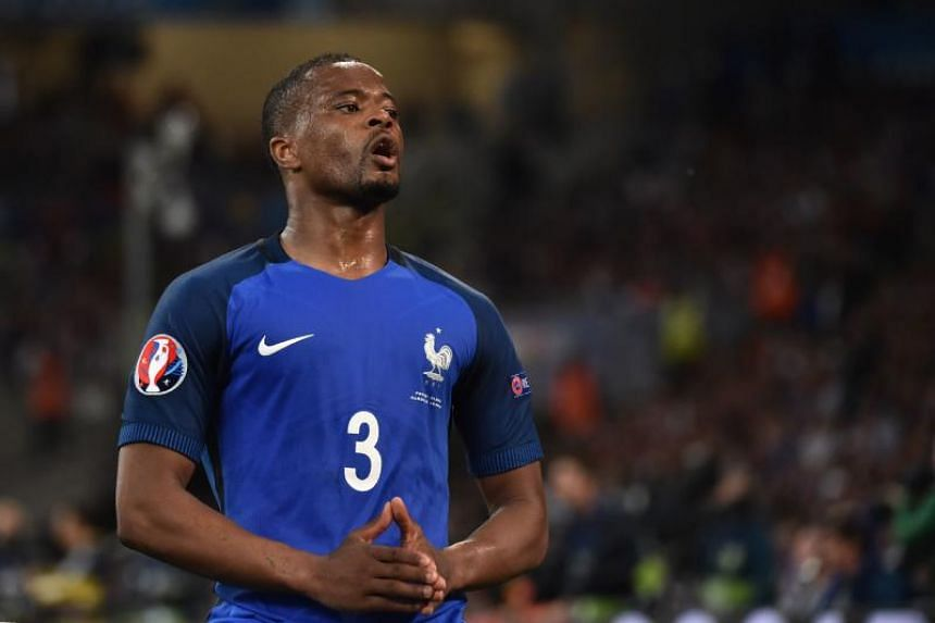 Patrice Evra was banned from all European tournaments until June 30, 2018 after kicking a Marseille supporter in the face.