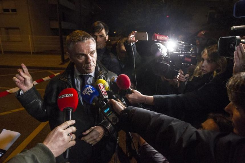 French prosecutor Pierre Yves Couilleau speaks to media during a press briefing near the IGS campus, near Toulouse, France, on Nov 10, 2017.