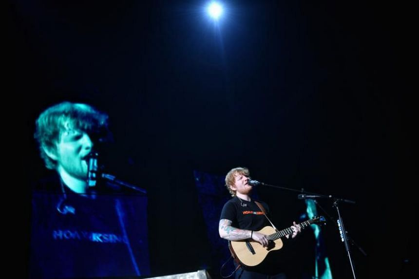 Ed Sheeran plays to a sold-out crowd at the Singapore Indoor Stadium on Nov 11, 2017.