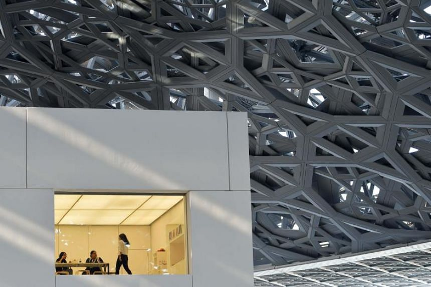 Part of the Louvre Abu Dhabi Museum on Nov 11, 2017 during its official opening to public on Saadiyat island in the Emirati capital.