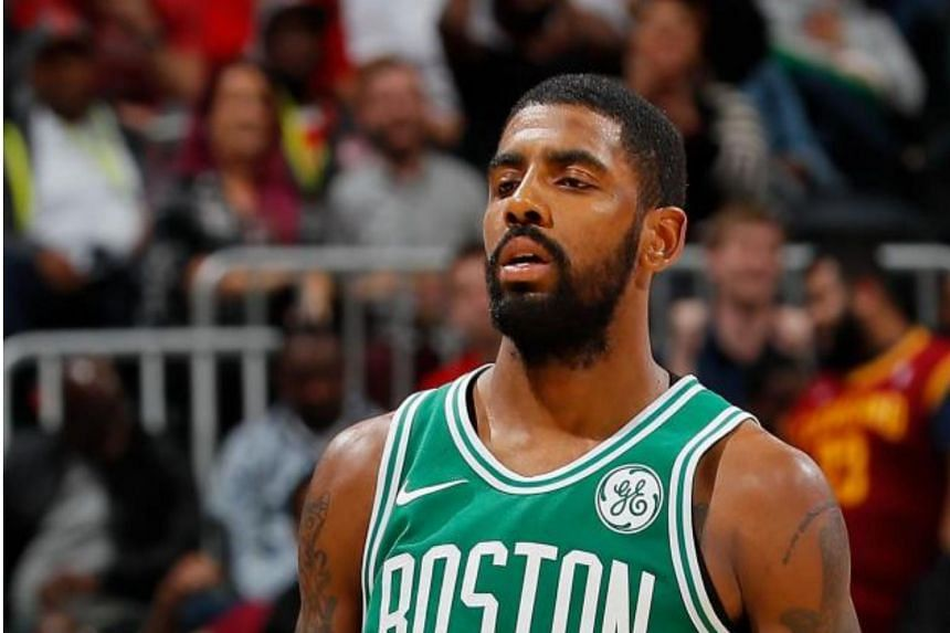 Kyrie Irving went down with a possible concussion less than two minutes into the game.