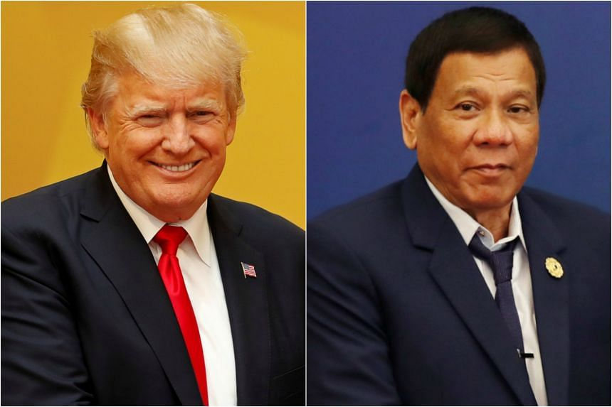 """The two leaders had a """"short but warm and cordial"""" meeting, according to Mr Duterte's spokesman."""
