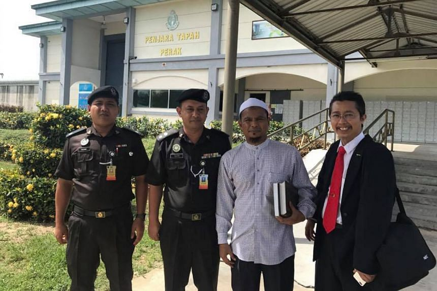 Preacher Zamihan Mat Zin after a rehabilitation session at a prison. The cleric with the Islamic Development Department of Malaysia made headlines last month when he indirectly criticised the Johor Sultan for disallowing a Muslim-only launderette. Th