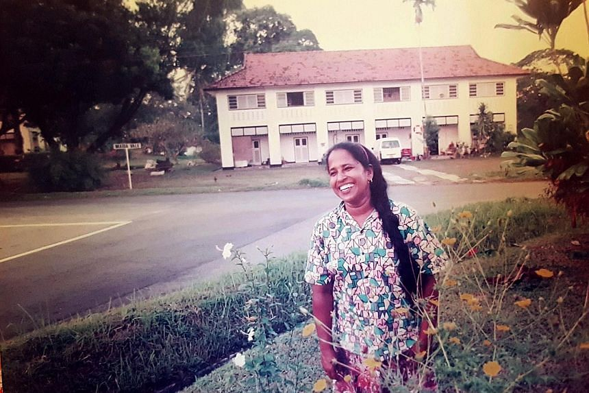 A photograph of Ms Mary Thavithurasa Rabinayaki in her younger days. The 58-year-old was diagnosed with cancer in 2012, and throughout her battle with the illness, her employers worked with hospital social workers and Assisi Hospice to make sure that