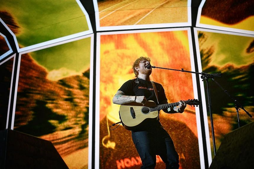 Ed Sheeran's show saw him belting out songs like Perfect, Photograph and smash hit Shape Of You. During the 90-minute set, the crowd, ranging from pre-teens with their parents to middle-aged men, sang along whenever the singer prompted them.