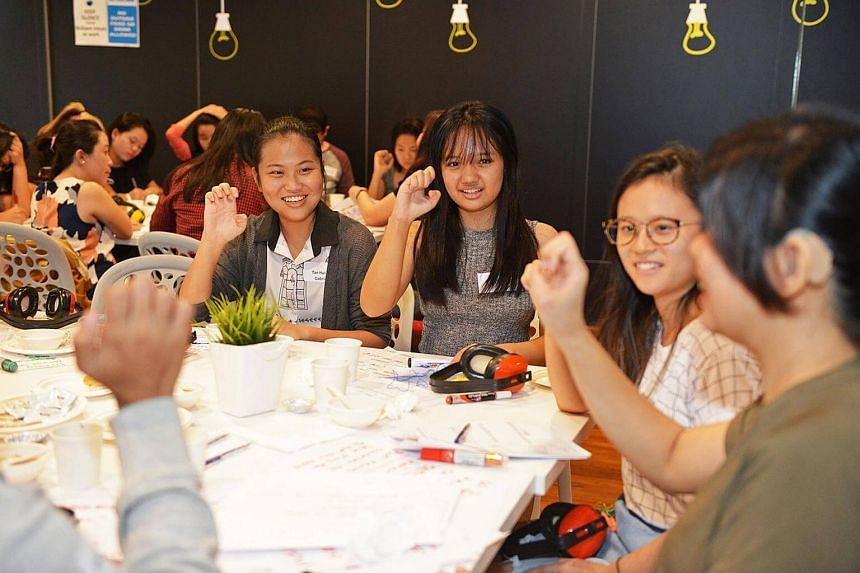 Participants having conversations at the second edition of Deaf Cafe, held in June this year, by non-profit social enterprise Etch Empathy.