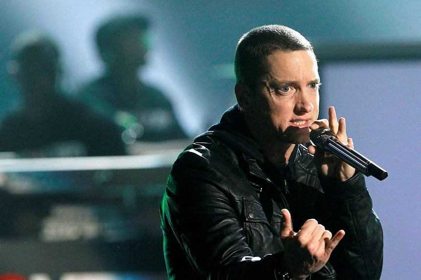 Rapper Eminem debuted a new track, Walk On Water, which is from his new album, his first in four years.