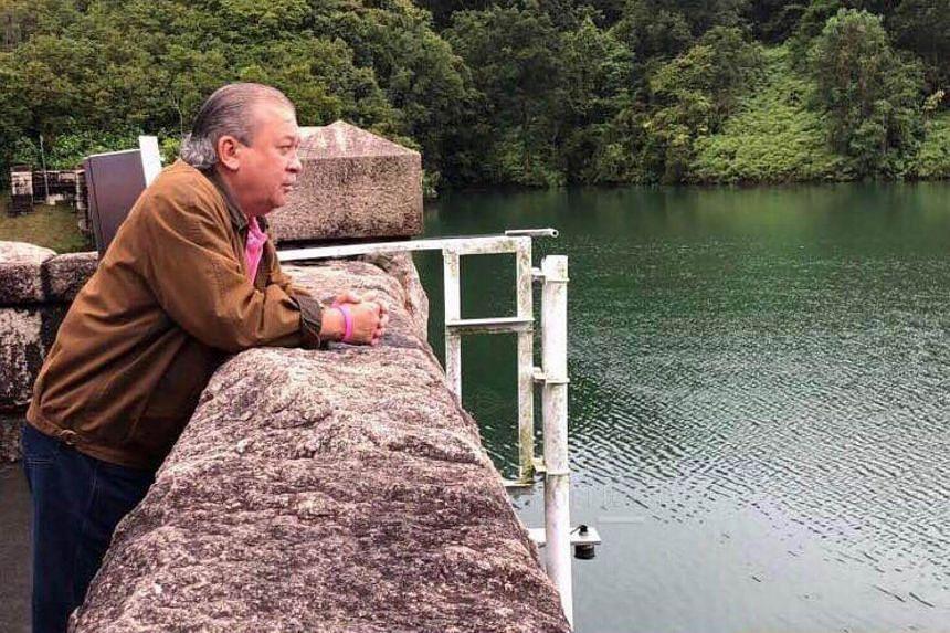 Johor's Sultan Ibrahim Sultan Iskandar visited the Sultan Ibrahim reservoir and water treatment plant, north of Johor Baru, on Nov 11, 2017.