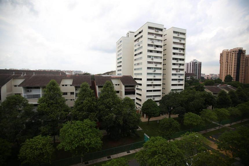 A view of Shunfu Ville in Bishan.
