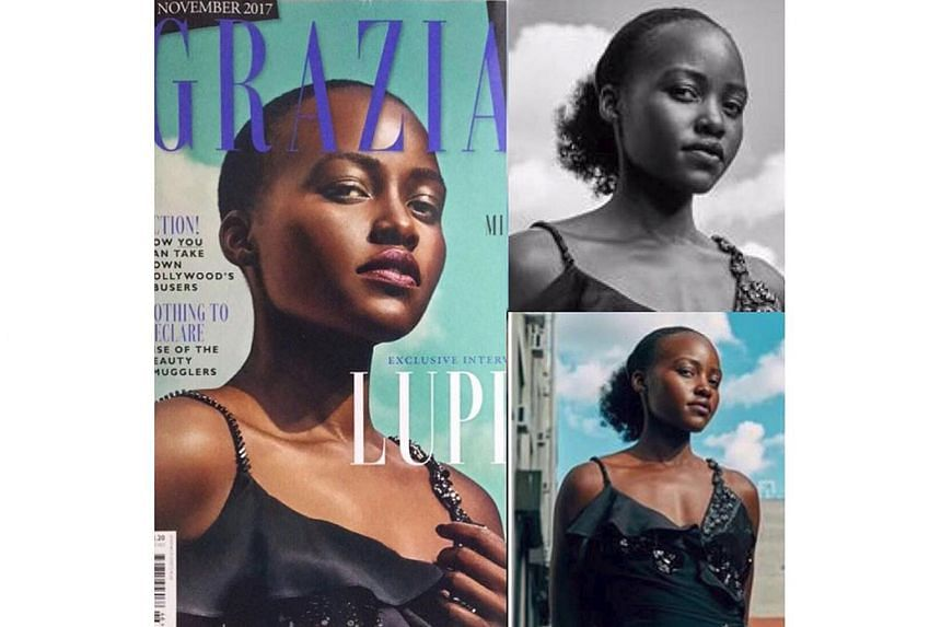 Actress Lupita Nyong'o has criticised magazine Grazia UK for using an alter image of her on its cover.