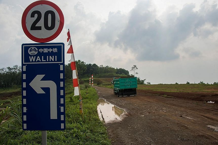 Land in Bandung earmarked for the high-speed railway linking the city to Jakarta. Work has barely started, and no tracks have been laid so far.