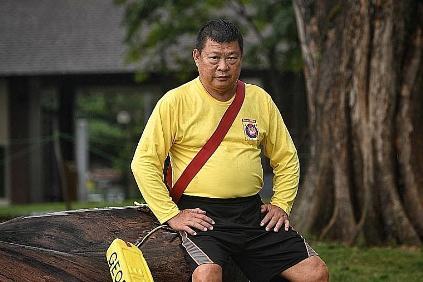 With 45 years of experience, Mr George Lee is the most experienced lifeguard on patrol at the Changi Point coast. He is also president of the Singapore Life Guard Corps, where he has been volunteering since 1972.