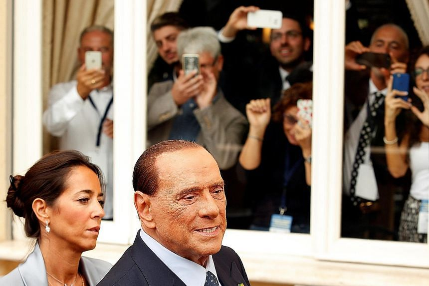 Forza Italia leader Silvio Berlusconi cannot run for office due to a 2013 tax fraud conviction. But he hopes the European Court of Human Rights will overturn this ban in time for him to run in nationwide elections next year.