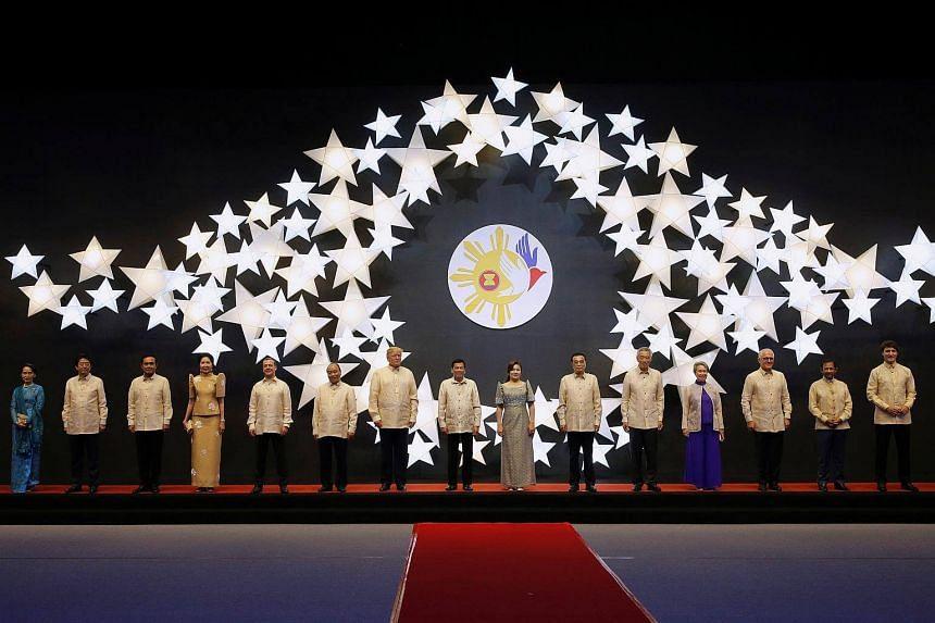 The Asean Summit gala dinner in Manila, Philippines on Nov 12, 2017.