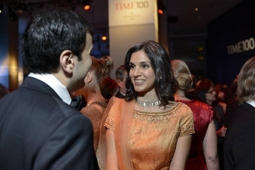 A file photo Radhika Jones, then the executive editor of Time magazine, speaking at the Time 100 Gala in New York, on April 23, 2013.