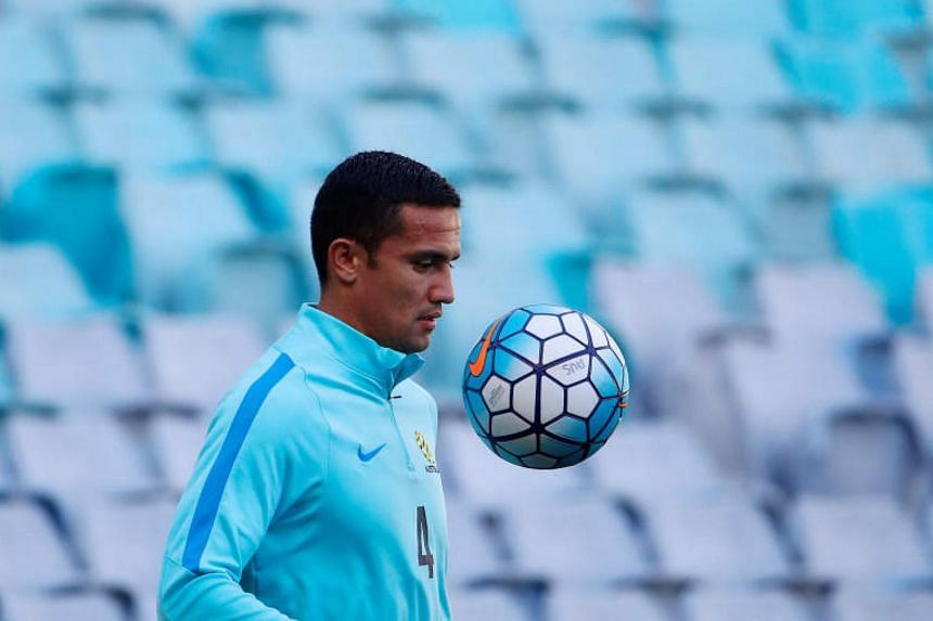 Tim Cahill remained on the bench during the goal-less first leg in San Pedro Sula on Friday (Nov 10).