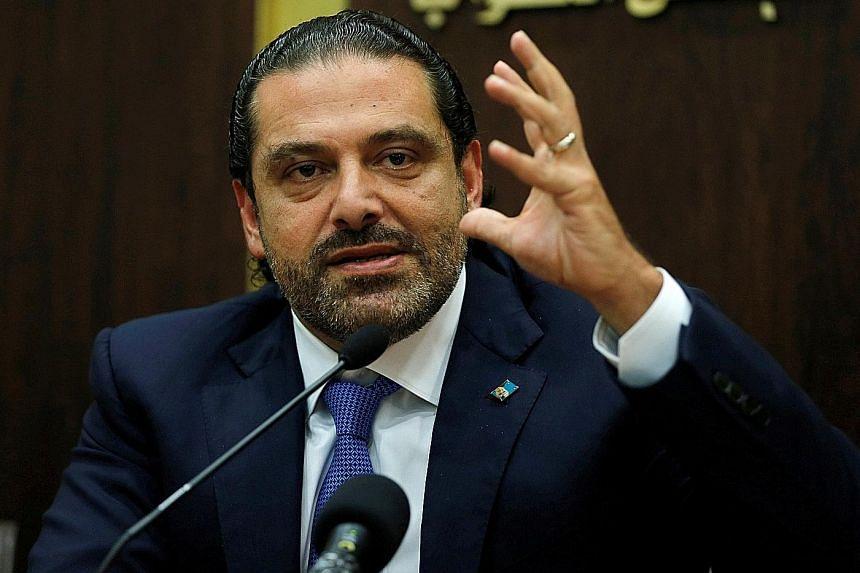 Former Lebanese prime minister Saad al-Hariri (above)