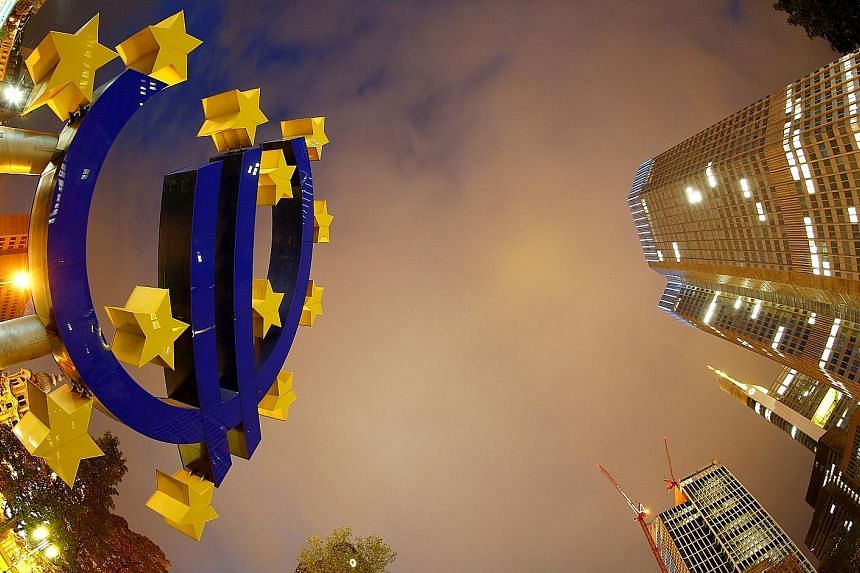 The ECB's headquarters in Frankfurt. Europe has benefited from years of unprecedented monetary stimulus that has helped reduce unemployment andbolster private consumption.